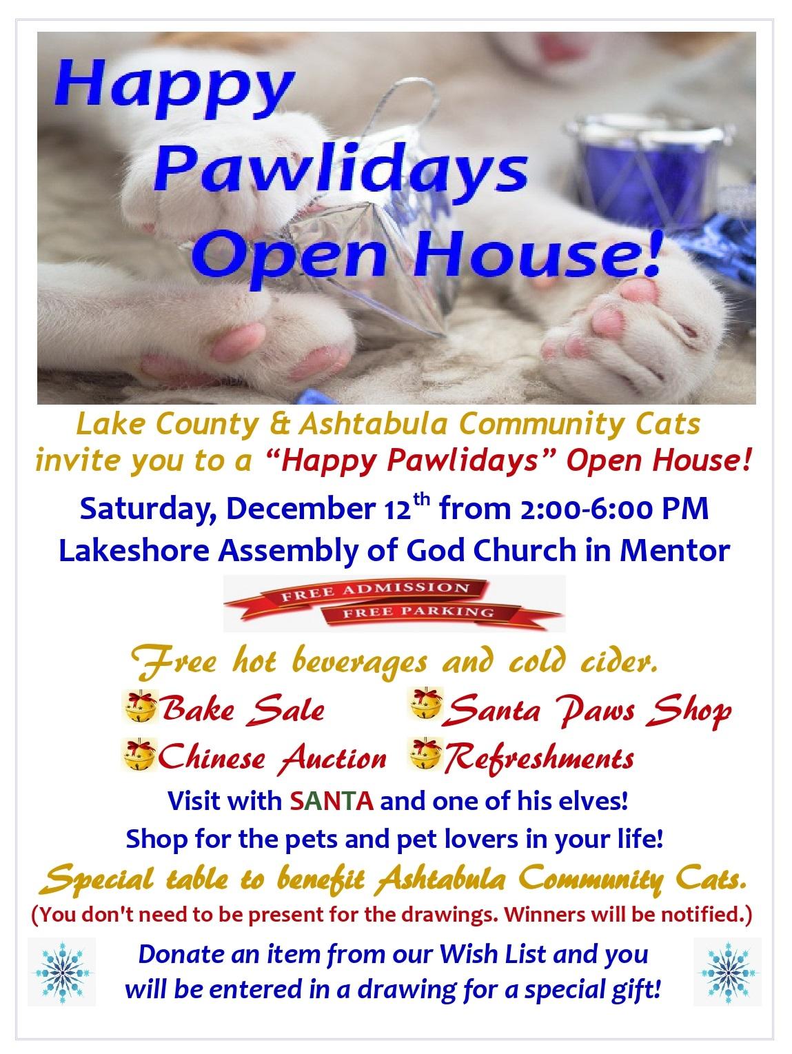 Happy Pawlidays Open House