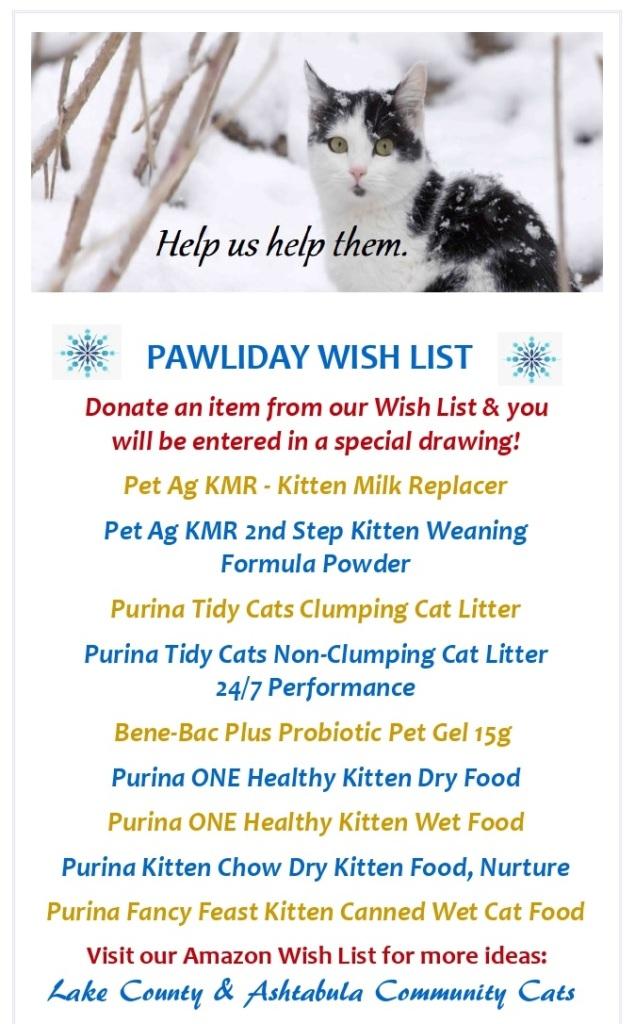 Pawlidays Wish List